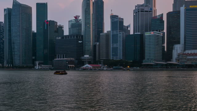 HD Time-lapse: Skyline of Central Business District in dusk