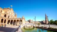 HD Time-lapse: Spanish Square espana Plaza in Sevilla Spain