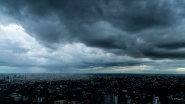 HD Timelapse : Storm in the city