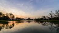 4K TimeLapse : SuanLuang Park is Landmark in Bangkok city Day to Night