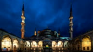 HD Timelapse Sultan Ahmet Mosque. Blue Mosque in Istanbul