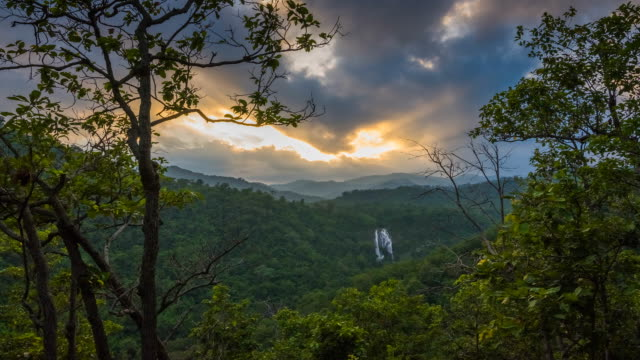 Timelapse sunset in the mountains