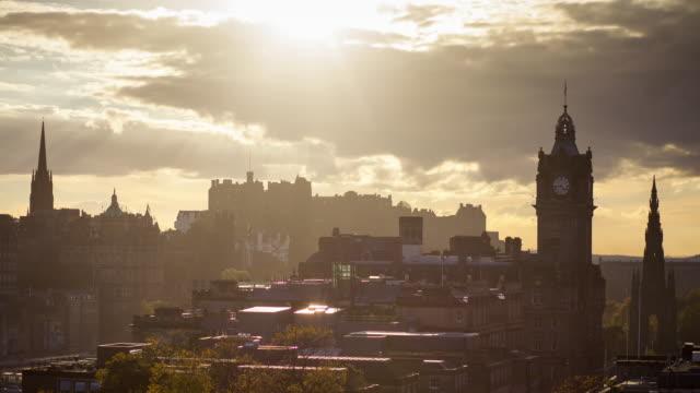 Timelapse - Sunset over Edinburgh, Scotland