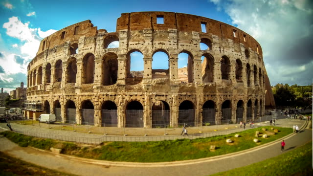 Timelapse The Colosseum Of Rome Hd Video Stock Footage