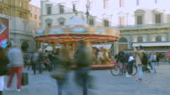 Time-lapse: The people shopping area in Florence, Italy