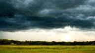 Timelapse thunder storm sky Rain clouds