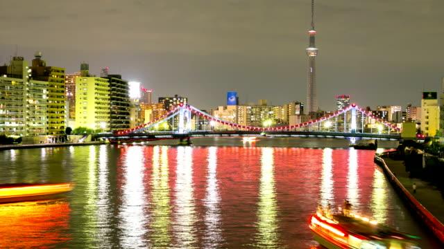 Hd timelapse tour tokyo skytree avec paysage urbain for Exterieur nuit film
