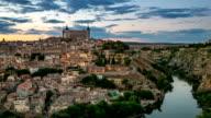 HD Timelapse: Toledo Cityscape at dusk Spain
