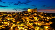 HD Timelapse: Toledo Cityscape at dusk Spain