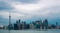 HD Time-lapse: Toronto Skyline Cityscapeat dusk Canada