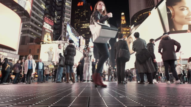 4K - Timelapse toeristen in Time Square NYC