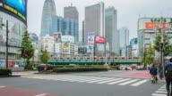 4 K Time-lapse: verkeer in Shinjuku district in Tokio, Japan