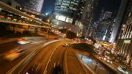 Time-lapse-Verkehr in hong kong Stadt