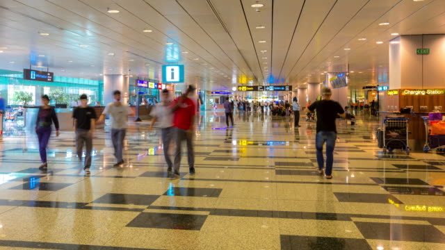4K Time-Lapse: Traveler at Airport Arrival Terminal