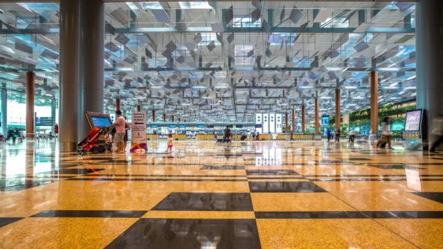 4K Time-Lapse: Traveler at Airport Departure Terminal