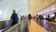 4K Time-lapse: Traveler Crowd abu dhabi Airport Departure waiting Hall