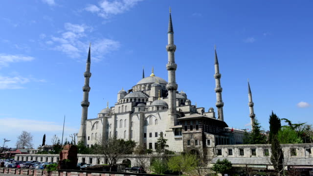 Timelapse video of moving cloud over Sultan Ahmed Mosque