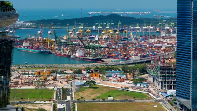 Zeitraffer-Videos von Hafen in Tag mit zoom-in-Look