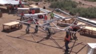 Timelapse video of the assembly of a solar panel array at White Sands Missile Range