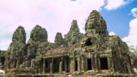 Timelapse view of a Bayon temple at Angkor Wat, Cambodia