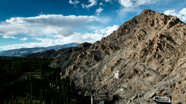 Timelapse view of Palace in Leh. Ladakh province