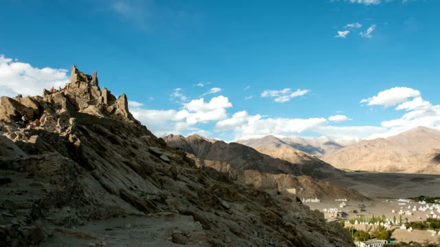 Timelapse view of Shey Monastery