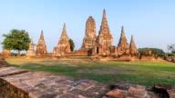 HD Timelapse : Wat Chaiwatthanaram in Ayutthaya, Thailand