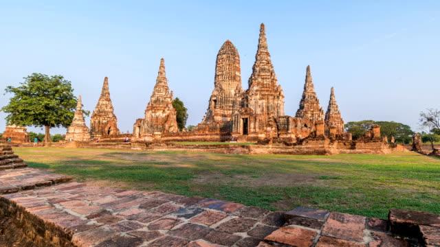 HD-Zeitraffer : Wat Chaiwatthanaram in Ayutthaya, Thailand