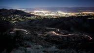 Time-Lapse Winding Road Palm Springs