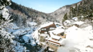 HD Time-lapse: Winter landscape of Japan Alps Nagano