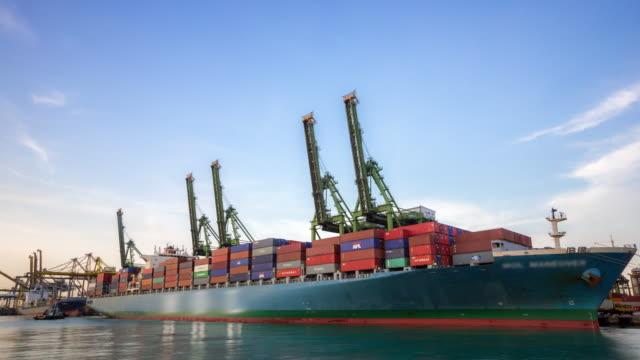 time-lapse: Working at Singapore Shipyard Port Terminal