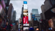 Timelapse Young woman Time Square New York City Manhattan