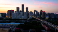 TimeLapse-Beijing Central Business district buildings skyline, China cityscape