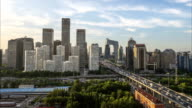 TimeLapse-Beijing Central Business district buildings skyline