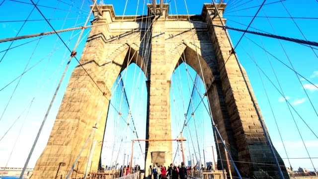 HD Time-lapse:Brooklyn Bridge, New York