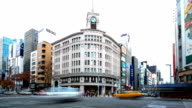 HD Time-lapse:City Traffic Tokyo Ginza