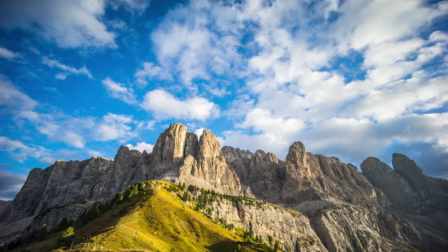 Timelapse:Day to Dusk mountain Garneda italy