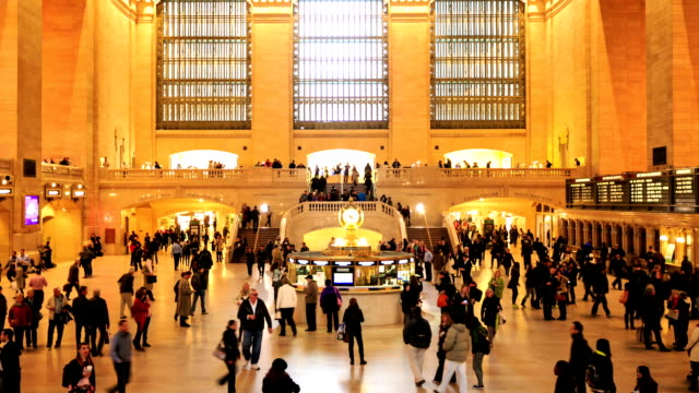 HD Time-lapse:Grand Central Station, New York City