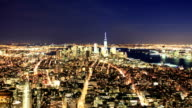 HD Time-lapse:Manhattan to night, New York