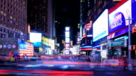 HD Time-lapse:Night Times Square, New York City