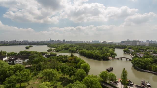 4K Time-lapse:Scenic view of the South Lake,Jiaxing,Zhejiang Province,China