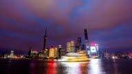 Timelapse-Sunset at Bund Shanghai China