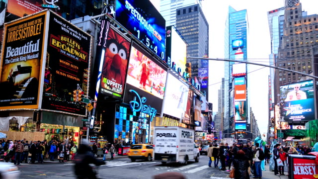HD Time-lapse:Times Square, New York City