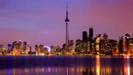 HD Time-lapse:Toronto Skyline, Canada