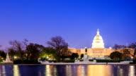 HD Time-lapse:U.S Capitol in Washington DC