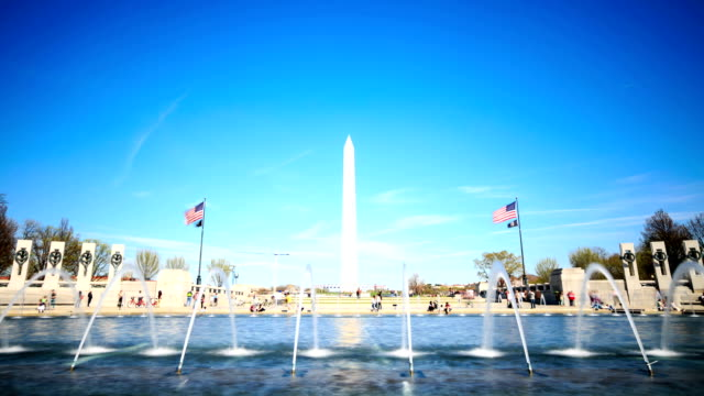Time-lapse in HD: guerra mondiale due memorial, Washington DC