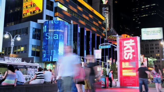 LAPSE Times Square 42nd Street New York City USA TIME LAPSE Times Square on July 09 2013 in New York City New York
