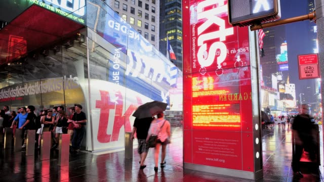 LAPSE Times Square 42nd Street New York City USA TIME LAPSE Times Square New York City on July 09 2013 in New York City New York