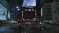 MS, TU Times Square at night, New York City, New York, USA