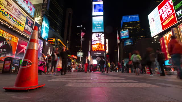 Times Square crowd motion time-lapse